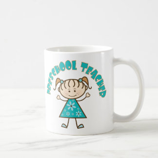Cute Preschool Teacher Basic White Mug