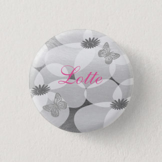 Cute Pretty Anemones Custom Floral  Badge 1 Inch Round Button