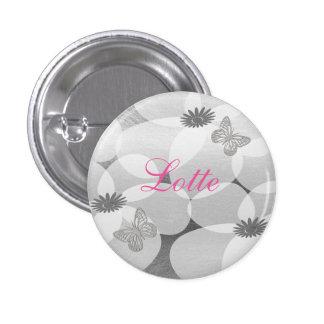 Cute Pretty Anemones Custom Floral  Badge 1 Inch Round Button