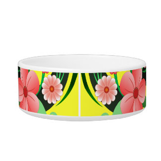 Cute Pretty Floral Small Pet Food or Water Bowl