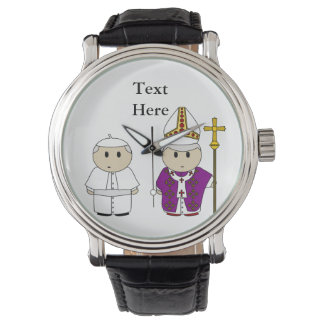 Cute Priest Pope Gift Personalized Watch