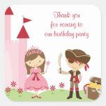 Cute Princess and PIrate Stickers