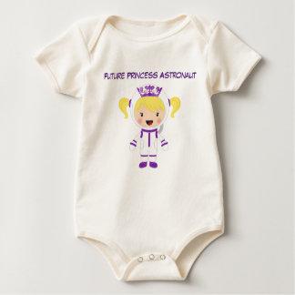 Cute Princess Astronaut Baby Girl Bodysuit