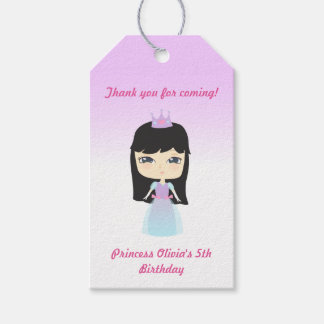 Cute Princess Birthday Pack Of Gift Tags