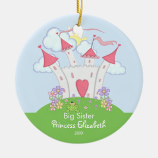 Cute Princess Castle Big Sister Christmas Ornament