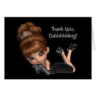 Cute Princess Diva Thank You Card