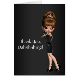 Cute Princess Diva Thank You Cards