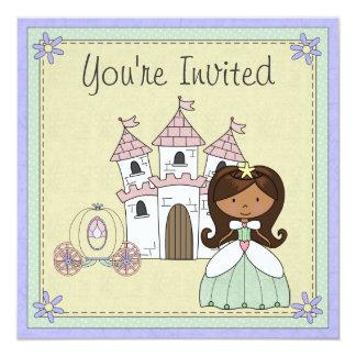 Cute Princess Fairy Tale Birthday Invitation