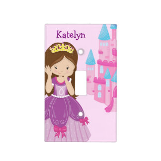 Cute Princess Girl Bedroom Pink Purple Custom Light Switch Cover