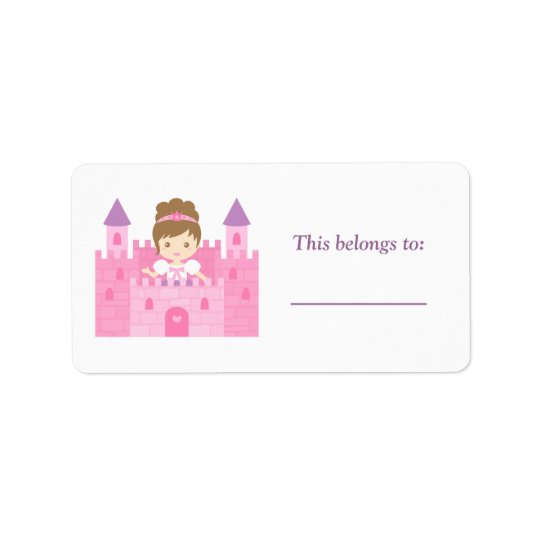 Cute Princess Girl in Pink Castle
