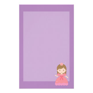 Cute Princess, Pink for Little Girls Stationery