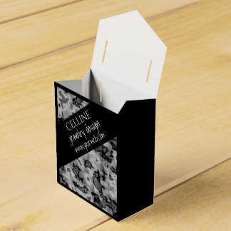 Cute Professional Black White Marble Favor Box