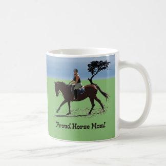 Cute Proud Horse Mom Equestrian Coffee Mug