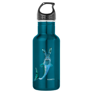 Cute Psychedelic Haremaid Mermaid Hare Mix Funny 532 Ml Water Bottle
