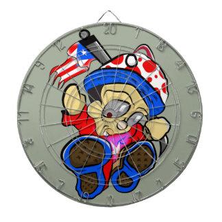 Cute Puerto Rico Character w/ Flag Dartboard