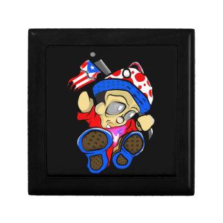Cute Puerto Rico Character w/ Flag Gift Box