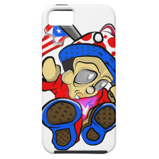 Cute Puerto Rico Character w/ Flag iPhone 5 Covers