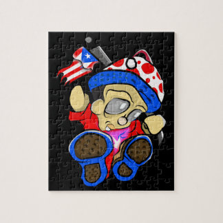 Cute Puerto Rico Character w/ Flag Jigsaw Puzzle