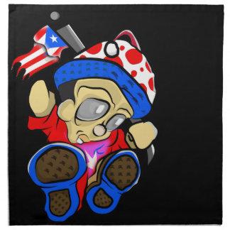 Cute Puerto Rico Character w/ Flag Napkin