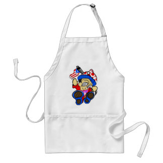 Cute Puerto Rico Character w/ Flag Standard Apron