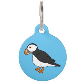 Cute Puffin Pet ID Tag