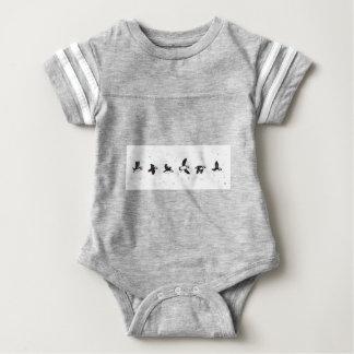 Cute puffins flying baby bodysuit