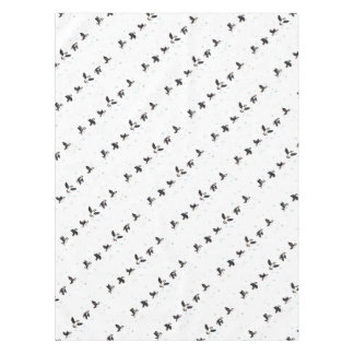 Cute puffins flying tablecloth