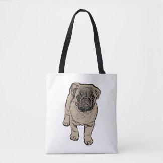 Cute Pug All-Over-Print Tote Bag