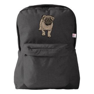 Cute Pug Backpack - Black