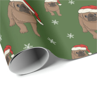Cute Pug Christmas Wrapping Paper