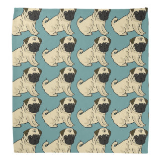 Cute Pug Dog Bandana