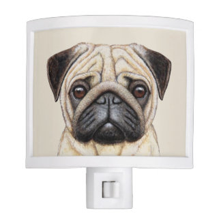 Cute Pug Dog Face Night Lite
