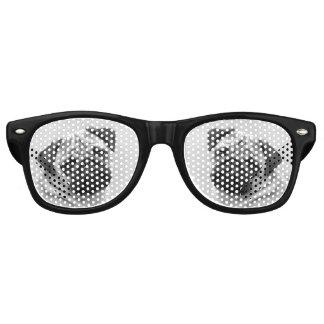 Cute Pug Dog Face on Retro Sunglasses