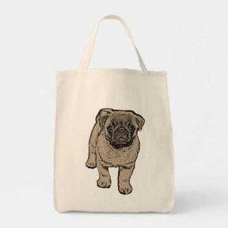 Cute Pug Grocery Tote