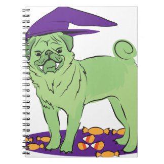 Cute Pug Halloween puppy dog Notebook