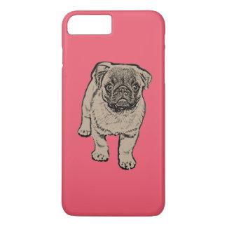 Cute Pug iPhone 7 Plus Case - Red