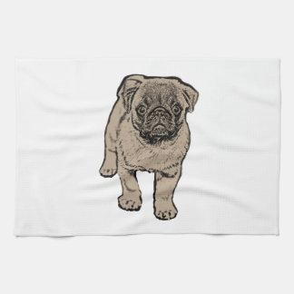 Cute Pug Kitchen Towel