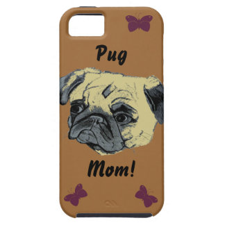 Cute Pug Mom iPhone 5 Case