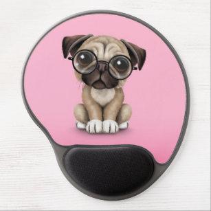 201e8f853e4 Cute Pug Puppy Dog Wearing Reading Glasses