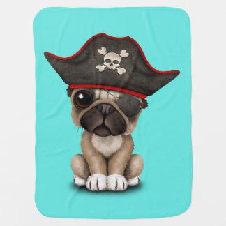 Cute Pug Puppy Pirate Baby Blanket