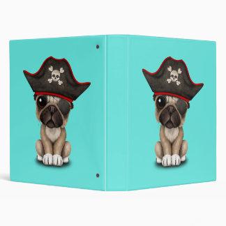 Cute Pug Puppy Pirate Binder