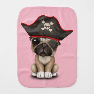 Cute Pug Puppy Pirate Burp Cloth