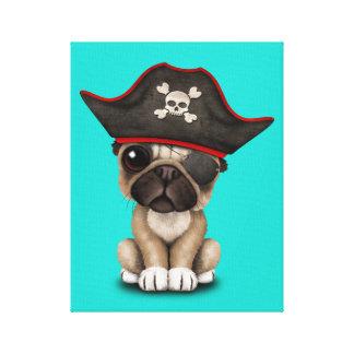 Cute Pug Puppy Pirate Canvas Print