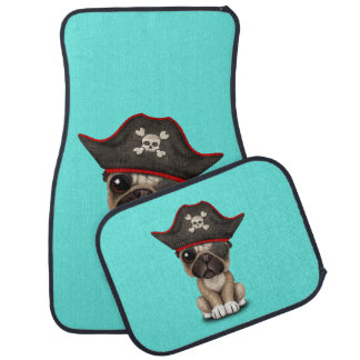 Cute Pug Puppy Pirate Car Mat