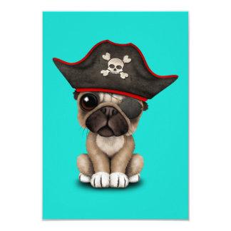 Cute Pug Puppy Pirate Card