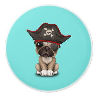 Cute Pug Puppy Pirate Ceramic Knob