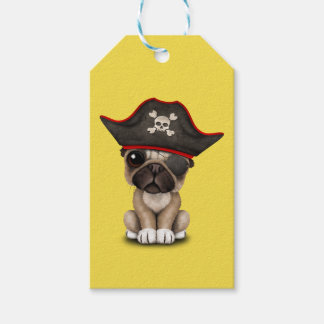 Cute Pug Puppy Pirate Gift Tags