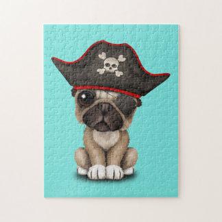 Cute Pug Puppy Pirate Jigsaw Puzzle