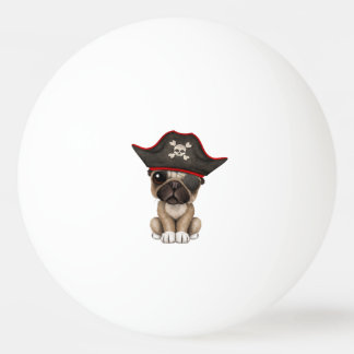 Cute Pug Puppy Pirate Ping Pong Ball