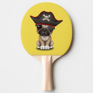 Cute Pug Puppy Pirate Ping Pong Paddle